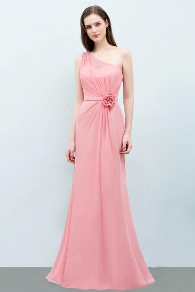 One Shoulder Mermaid Floor Length Bridesmaid Dress_2