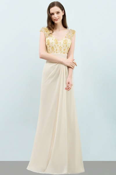 Attractive V-neck Chiffon A-line Evening Dress_1
