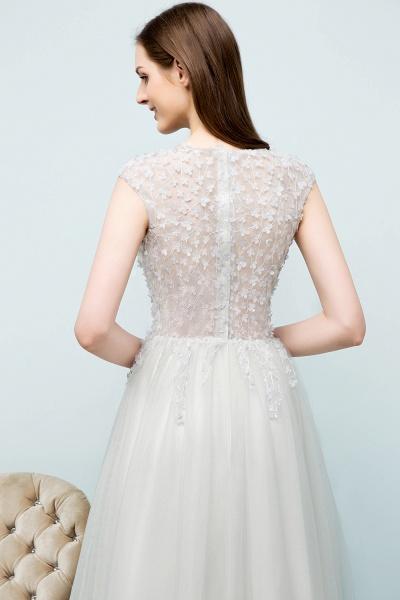 Modest Jewel Tulle A-line Evening Dress_10