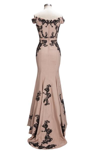 Off The Shoulder Cap Sleeves Lace Mermaid Bridesmaid Dress_3