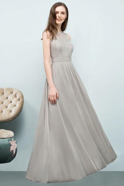 Lace A-line Floor Length Bridesmaid Dress_5