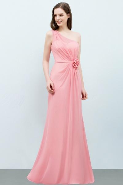 One Shoulder Mermaid Floor Length Bridesmaid Dress_8