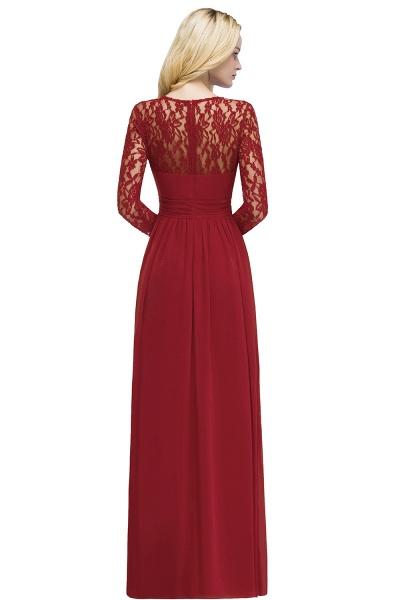 ROSALIE   A-line Floor Length Long Sleeves Lace Chiffon Bridesmaid Dresses_2