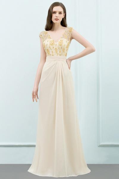 Attractive V-neck Chiffon A-line Evening Dress_8