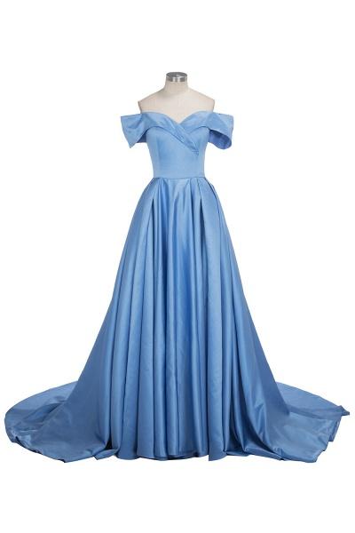 TORRIE   Ball Gown Off-shoulder Floor Length Blue Prom Dresses_1