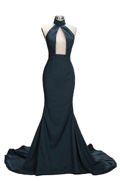URSULA | Mermaid Halter Floor Length Hollow Front Prom Dresses_1