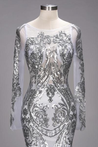 ROSEMARIE | Mermaid Long Sleeves Floor Length Sequined Patterns Tulle Prom Dresses_6