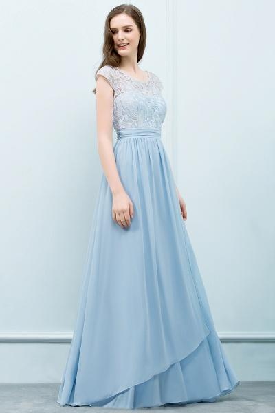 Lace A-line Floor Length Bridesmaid Dress_7
