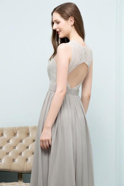 Lace A-line Floor Length Bridesmaid Dress_6