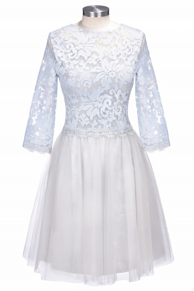 THEA   A-line Long Sleeves Short Lace Appliques Tulle Prom Dresses_4
