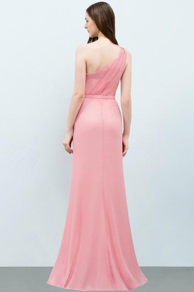One Shoulder Mermaid Floor Length Bridesmaid Dress_3