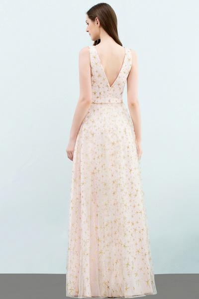 Affordable V-neck Tulle A-line Evening Dress_3
