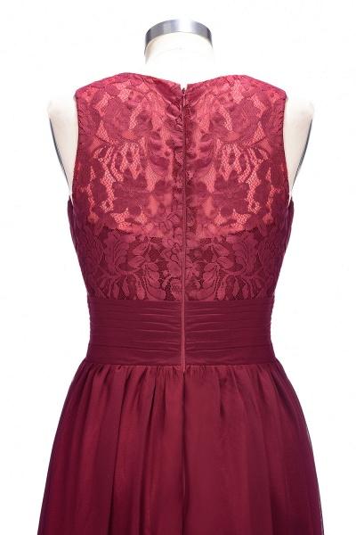 TONI | A-line V-neck Sleeveless Lace Ruffled Chiffon Prom Dresses_6