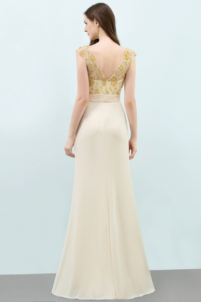 Attractive V-neck Chiffon A-line Evening Dress_5