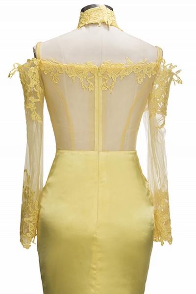 SCARLET | Mermaid Off-shoulder Floor Length Long Sleeves Appliqued Prom Dresses_7