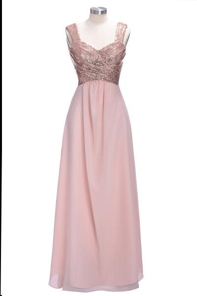 TESSIE | A-line Sweetheart Sleeveless Long Sequins Chiffon Prom Dresses_5