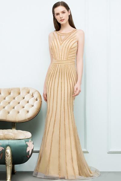 Graceful Jewel Tulle Mermaid Evening Dress_1