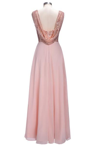 TESSIE | A-line Sweetheart Sleeveless Long Sequins Chiffon Prom Dresses_3
