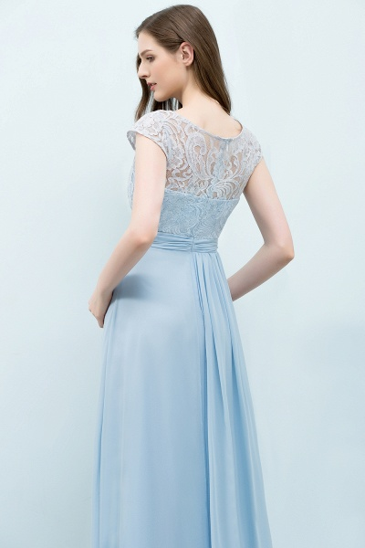 A-line Chiffon Lace Scoop Cap Sleeves Floor-Length Bridesmaid Dresses_5