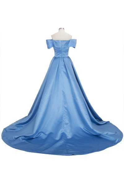 TORRIE | Ball Gown Off-shoulder Floor Length Blue Prom Dresses_6