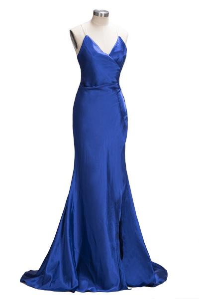 TERESA | Mermaid Floor Length V-neck Sleeveless Split Prom Dresses_6