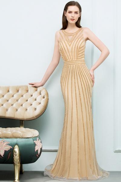 Graceful Jewel Tulle Mermaid Evening Dress_6