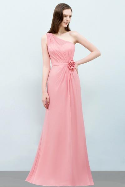 One Shoulder Mermaid Floor Length Bridesmaid Dress_4