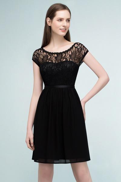 A-Line Chiffon Lace Scoop Sleeveless Knee-Length Bridesmaid Dresses_3