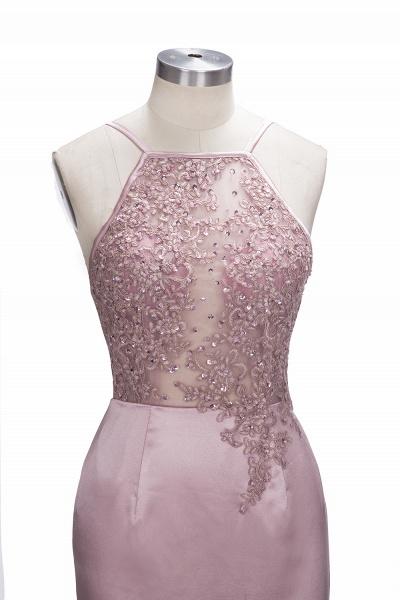 SALOME   Mermaid Long Spaghetti Rose Flowers Pink Beaded Prom Dresses_5