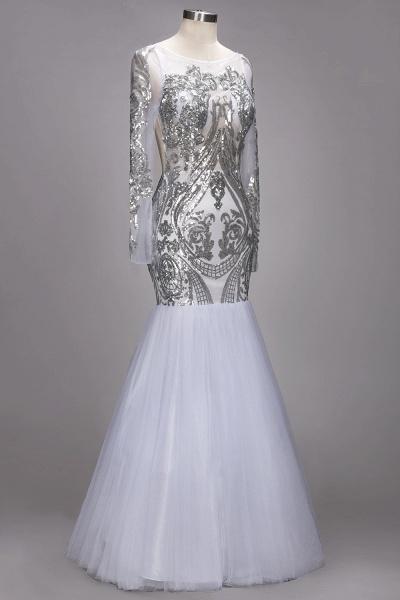 ROSEMARIE | Mermaid Long Sleeves Floor Length Sequined Patterns Tulle Prom Dresses_3