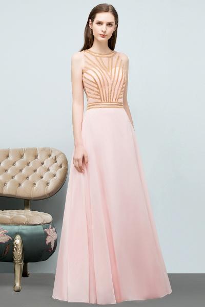 Sleek Jewel Chiffon A-line Evening Dress_5