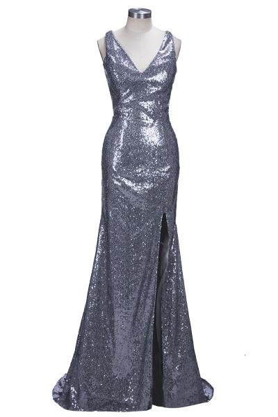 THELMA | Mermaid High Neck Long Sleeves Floor Length Appliqued Prom Dresses_4