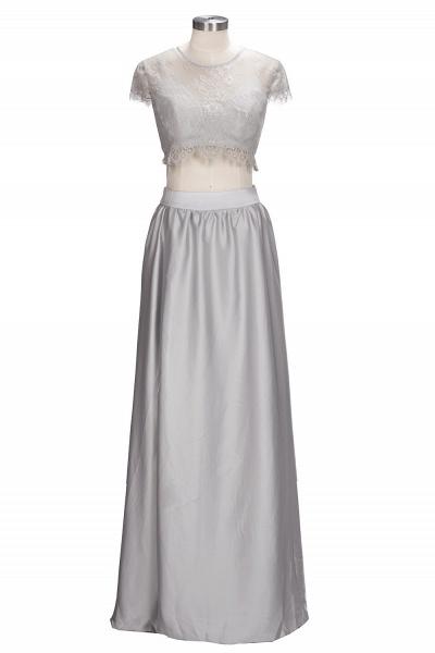 VIVIEN | A-line Two-piece Floor Length Lace Top Prom Dresses_1