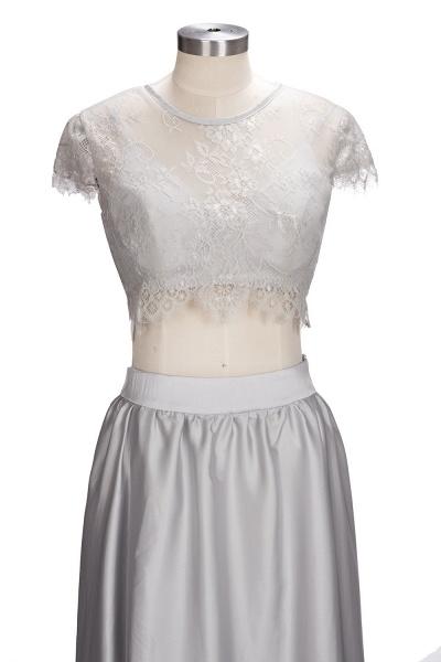 VIVIEN | A-line Two-piece Floor Length Lace Top Prom Dresses_7