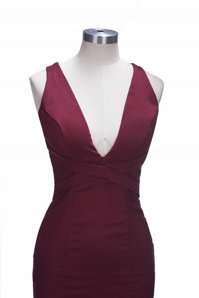 TESS | Mermaid V-neck Sleeveless Floor Length Burgundy Prom Dresses_6