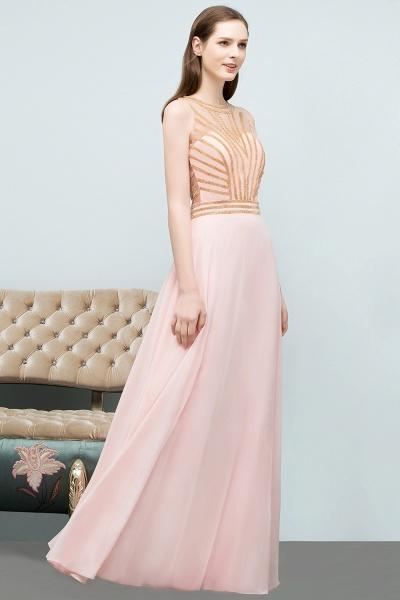 Sleek Jewel Chiffon A-line Evening Dress_1