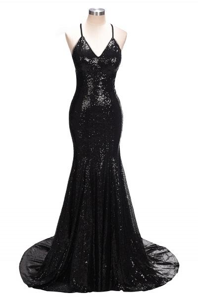 SABINA   Mermaid V-neck Spaghetti Floor Length Sequined Prom Dresses_4