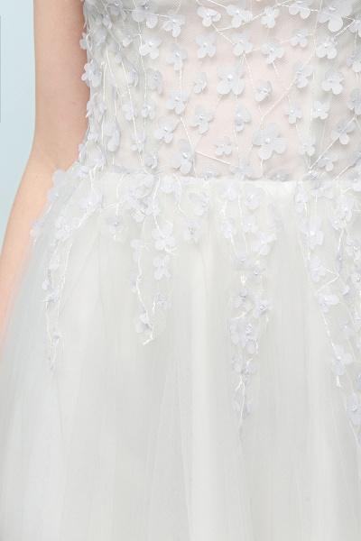 Modest Jewel Tulle A-line Evening Dress_9