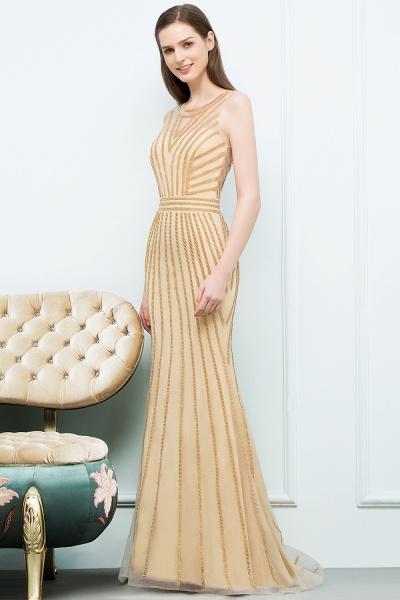 Graceful Jewel Tulle Mermaid Evening Dress_3