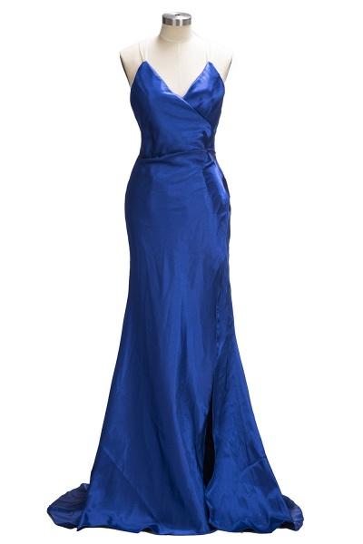 TERESA | Mermaid Floor Length V-neck Sleeveless Split Prom Dresses_1