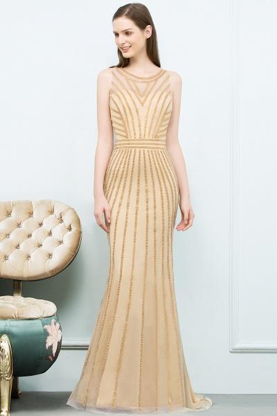 Graceful Jewel Tulle Mermaid Evening Dress_7