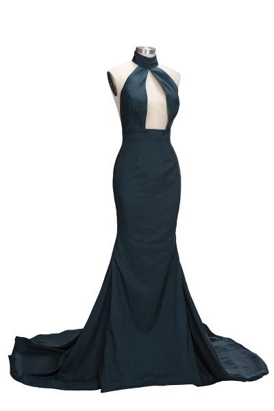 URSULA | Mermaid Halter Floor Length Hollow Front Prom Dresses_4