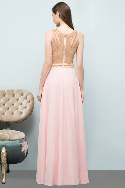 Sleek Jewel Chiffon A-line Evening Dress_4