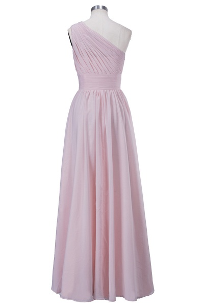 VIOLET | A-line One-shoulder Floor Length Ruffled Chiffon Bridesmaid Dresses_3
