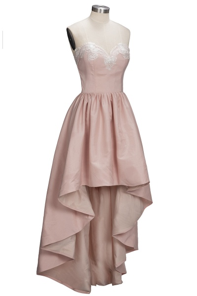 TIFFANY | A-line Strapless Sweetheart High-low Sleeveless Prom Dresses_5