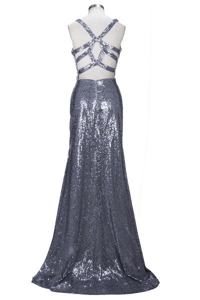 THELMA | Mermaid High Neck Long Sleeves Floor Length Appliqued Prom Dresses_3