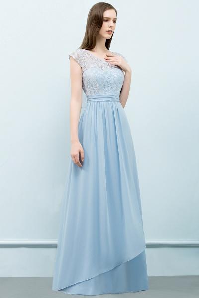 A-line Chiffon Lace Scoop Cap Sleeves Floor-Length Bridesmaid Dresses_3