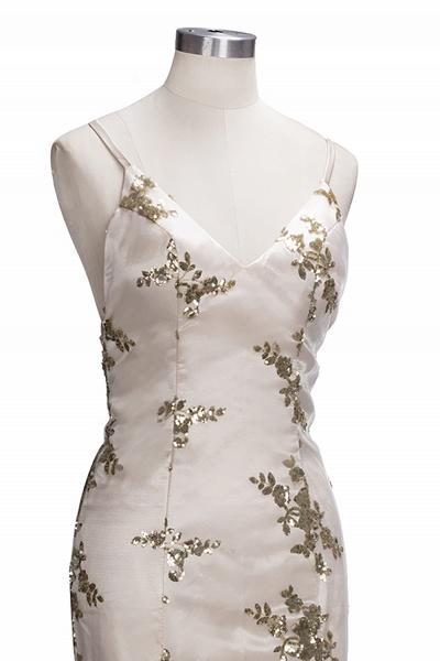 SAGE | Mermaid V-neck Spaghetti Floor-length Crystal Beads Prom Dresses_14