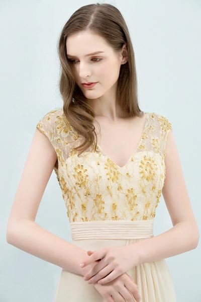 Attractive V-neck Chiffon A-line Evening Dress_6