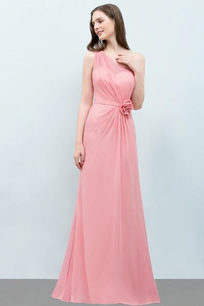 One Shoulder Mermaid Floor Length Bridesmaid Dress_5